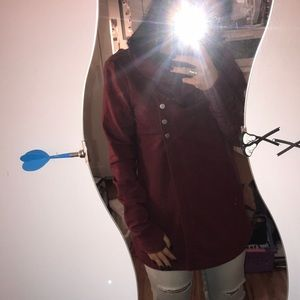 Maroon Button cardigan